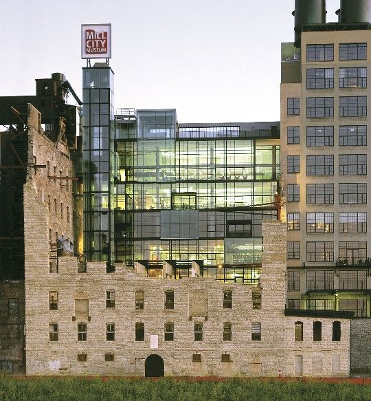 Minnesota Wedding Ceremony Locations: Great Adaptive Re-use Project! Mill City Museum In