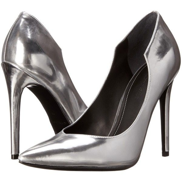 KENDALL + KYLIE Abi 2 (Silver) High Heels ($97) ❤ liked on