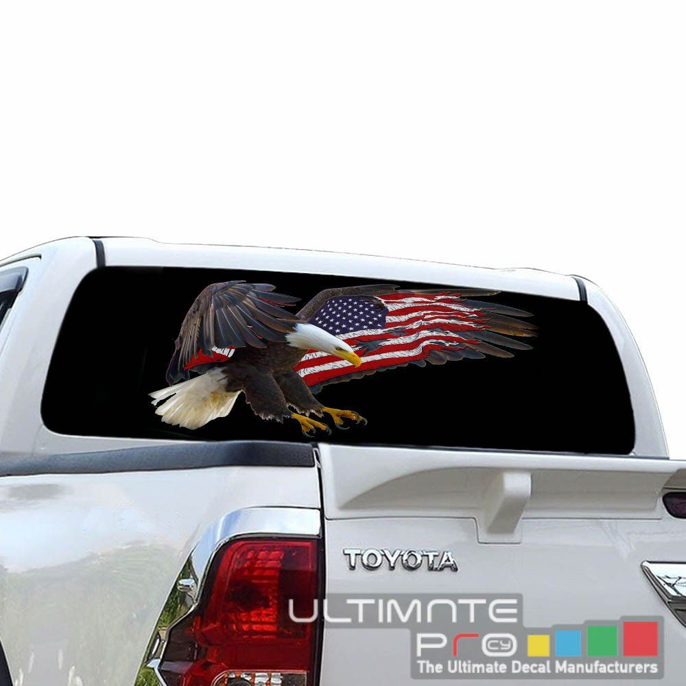 Sticker bomb See Thru Sticker Graphic Decals Rear Window Perforated Decal Sticker Compatible with Toyota Hilux TRD Vigo Printed Off Road