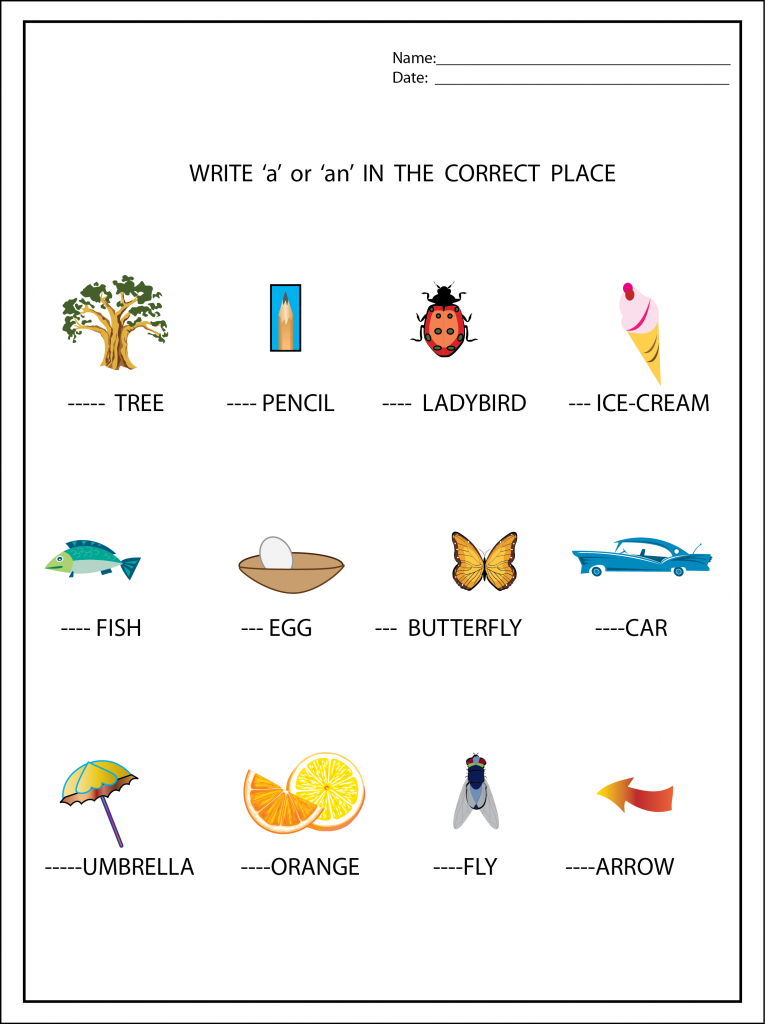 A or An Worksheet | Worksheets, English grammar and Language