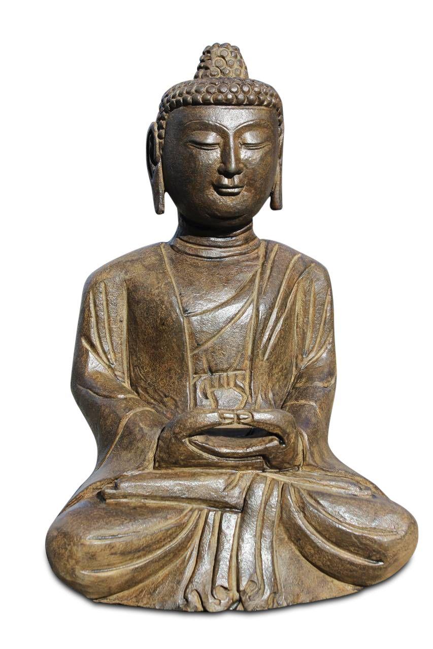 Naturstein Buddha Amitabha auch als Yoga Buddha bekannt | Buddha ...