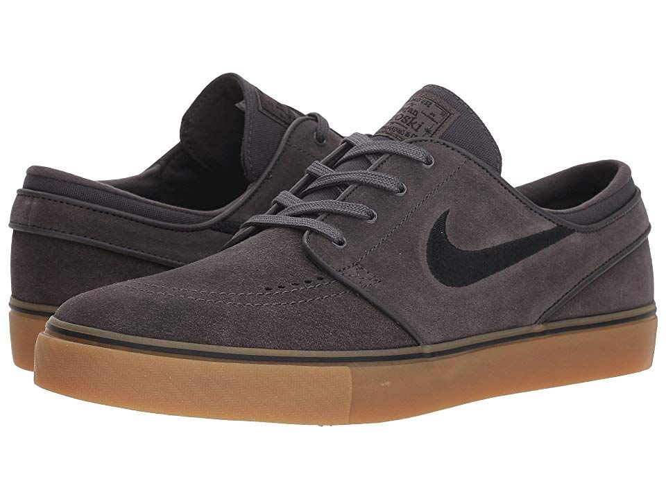 llegar Limón difícil  Nike SB Zoom Stefan Janoski - Suede (Thunder Grey/Black/Gum Light Brown)  Men's Skate Shoes. Stay primed for long skate… | Nike zoom stefan janoski,  Black gums, Nike