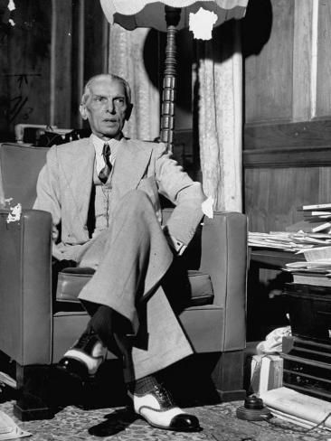 Mohammed Ali Jinnah Pres Of India S Moslem League Dressed In Western Style Suit In His Study Photographic Print Margaret Bourke White Art Com In 2021 Mohammed Ali Western Fashion India And Pakistan