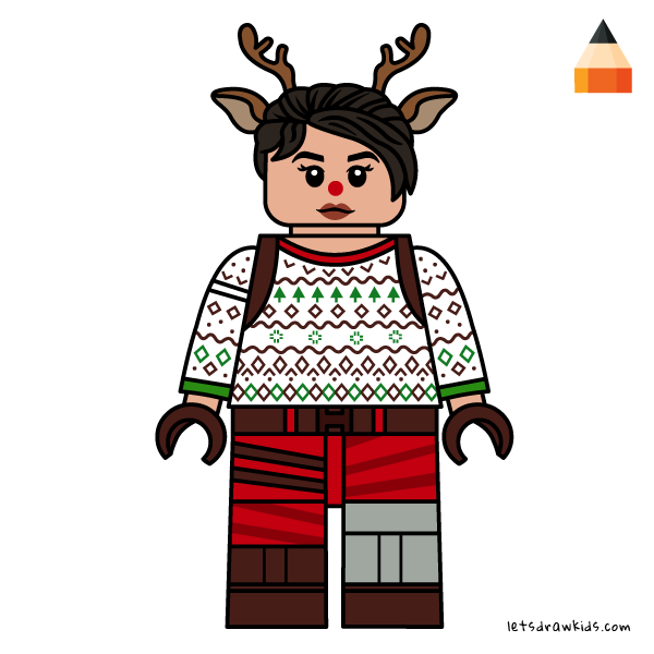 Lego Fortnite Red Nosed Raider Lego Coloring Skin Drawing Lego Minifigures