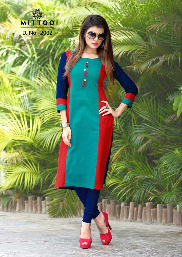 Catalog name mittoo priyal kurti fabric cotton inner