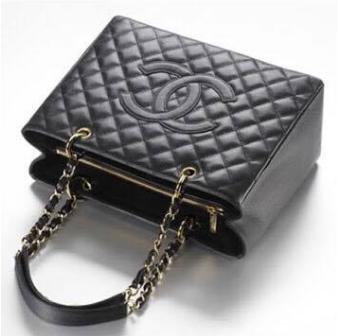 377c028eb Bolsa Chanel Shopper Tote- Preta - Inspired Premium   Bolsas de Luxo ...