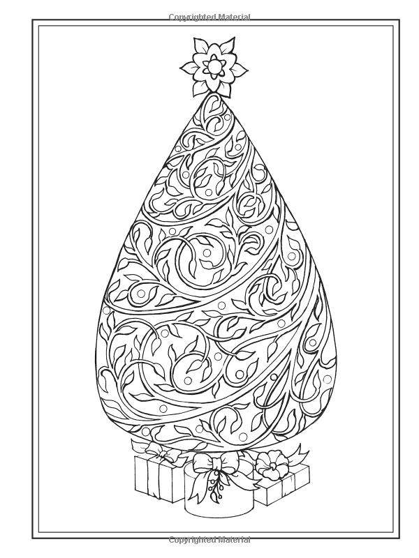 Creative Haven Christmas Trees Coloring Book Books Barbara Lanza