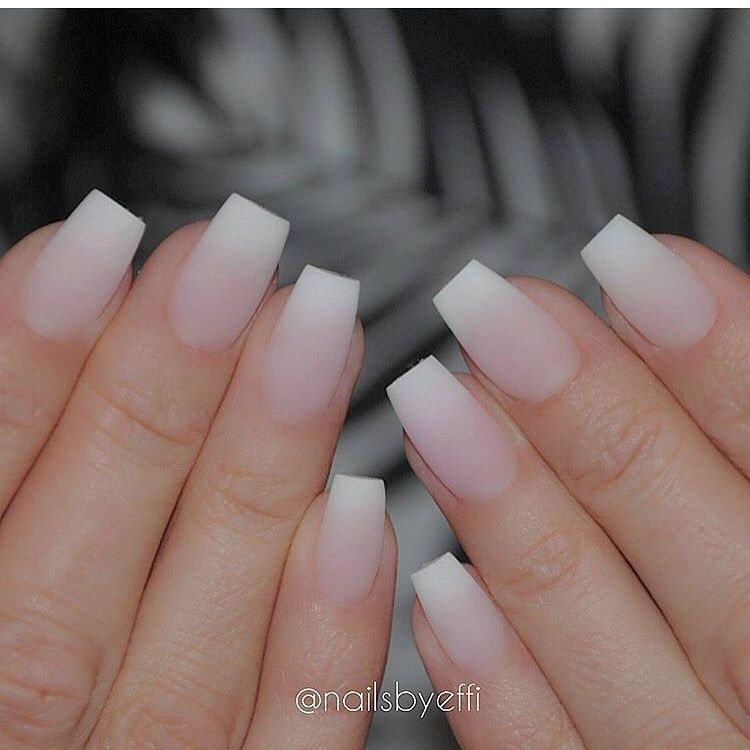 Coffin Shape Needs To Be Defined More French Tip Acrylic Nails Square Acrylic Nails French Acrylic Nails