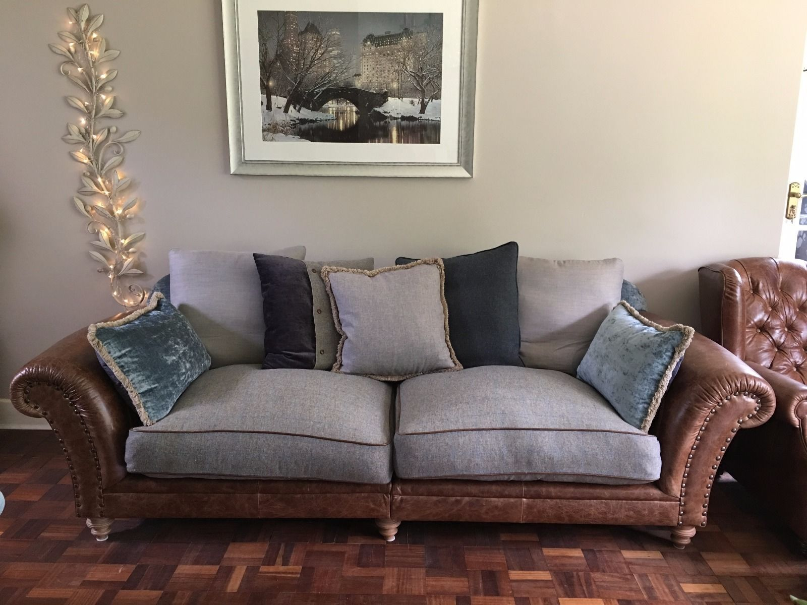Tetrad Westwood 4 Seater Leather + Material Split Frame Sofa ...