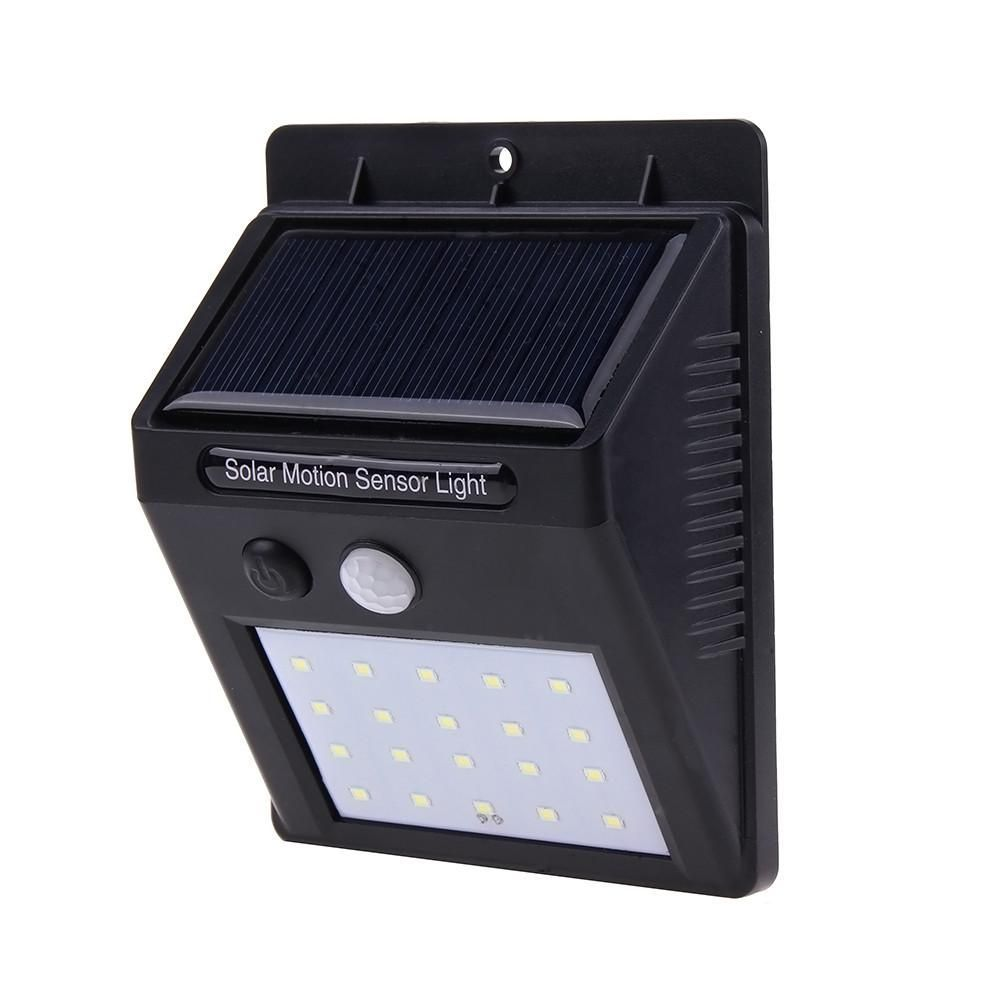Solar powered led light pir motion sensor wall light outdoor solar powered led light pir motion sensor wall light outdoor waterproof street yard path home garden security lamp 20 leds mozeypictures Choice Image