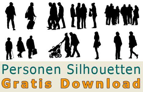 freigestellte personen silhouetten zum kostenlosen