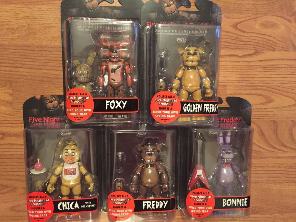 Funko Fnaf Five Nights At Freddy S Complete Set Of 5 Articulated Action Figures Ebay Fnaf Cool Lego Creations Five Night