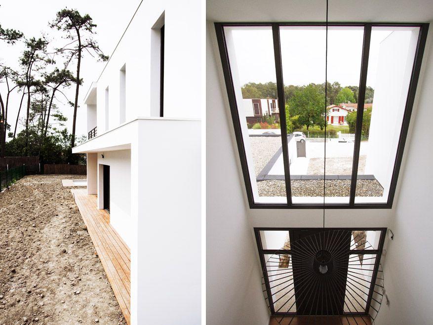 Construction d\'une villa à Anglet Chiberta - maison contemporaine ...