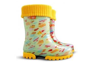 Kalosze Dzieciece Demar Ocieplane Zolte Ms 0039d Ciasteczka Rain Boots Rubber Rain Boots Boots