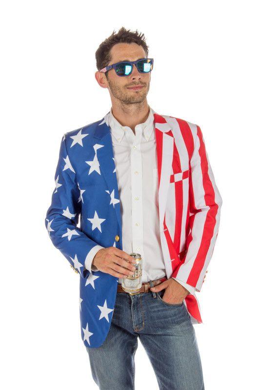 9c25cbf36e0f The Tommy J American Flag Blazer