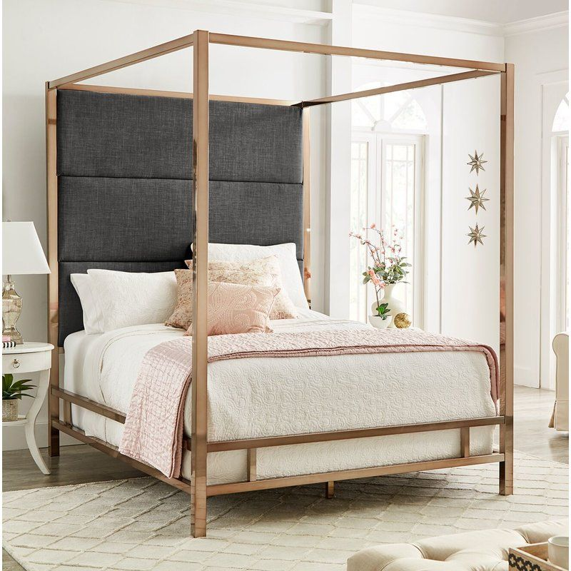 Everson Upholstered Canopy Bed Bedroom furniture, Murphy