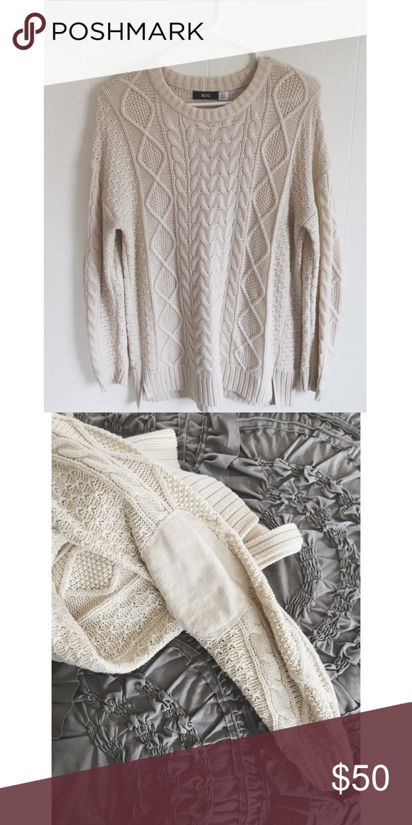New Oversized Cream Cable Knit Sweater Pinterest