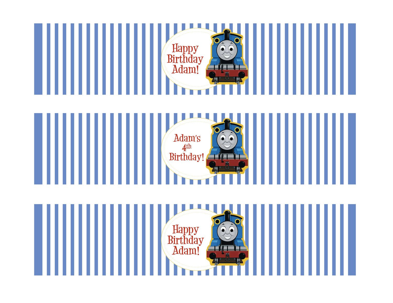 Printable Water Bottle Labels Thomas The Train Theme
