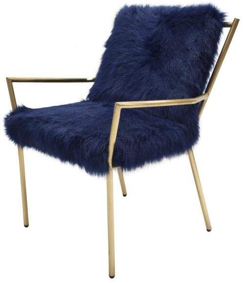 Swell Bancroft Faux Fur Accent Chair Navy Gold Clearance Accent Ibusinesslaw Wood Chair Design Ideas Ibusinesslaworg