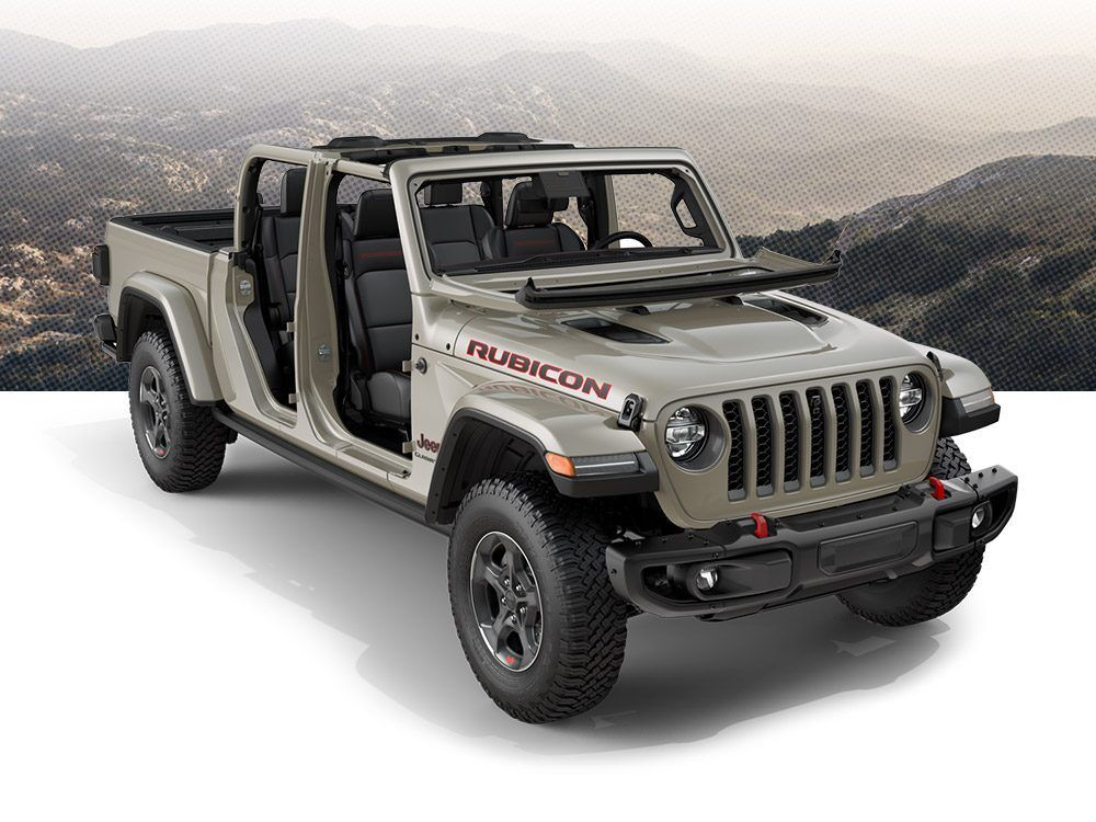 2020 Jeep Gladiator Exterior Features Jeep Gladiator Black Steel Wheels Jeep