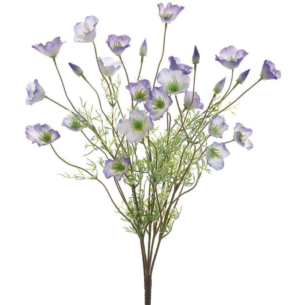 Faux california poppy flower bush in purple cream22 california faux california poppy flower bush in purple creambr105 mightylinksfo