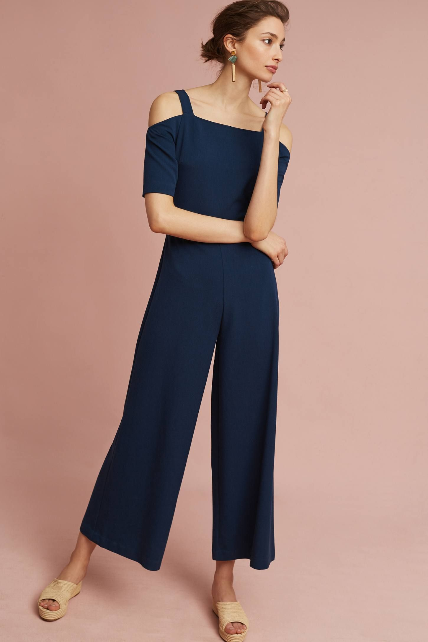 Abigail Open-Shoulder Jumpsuit