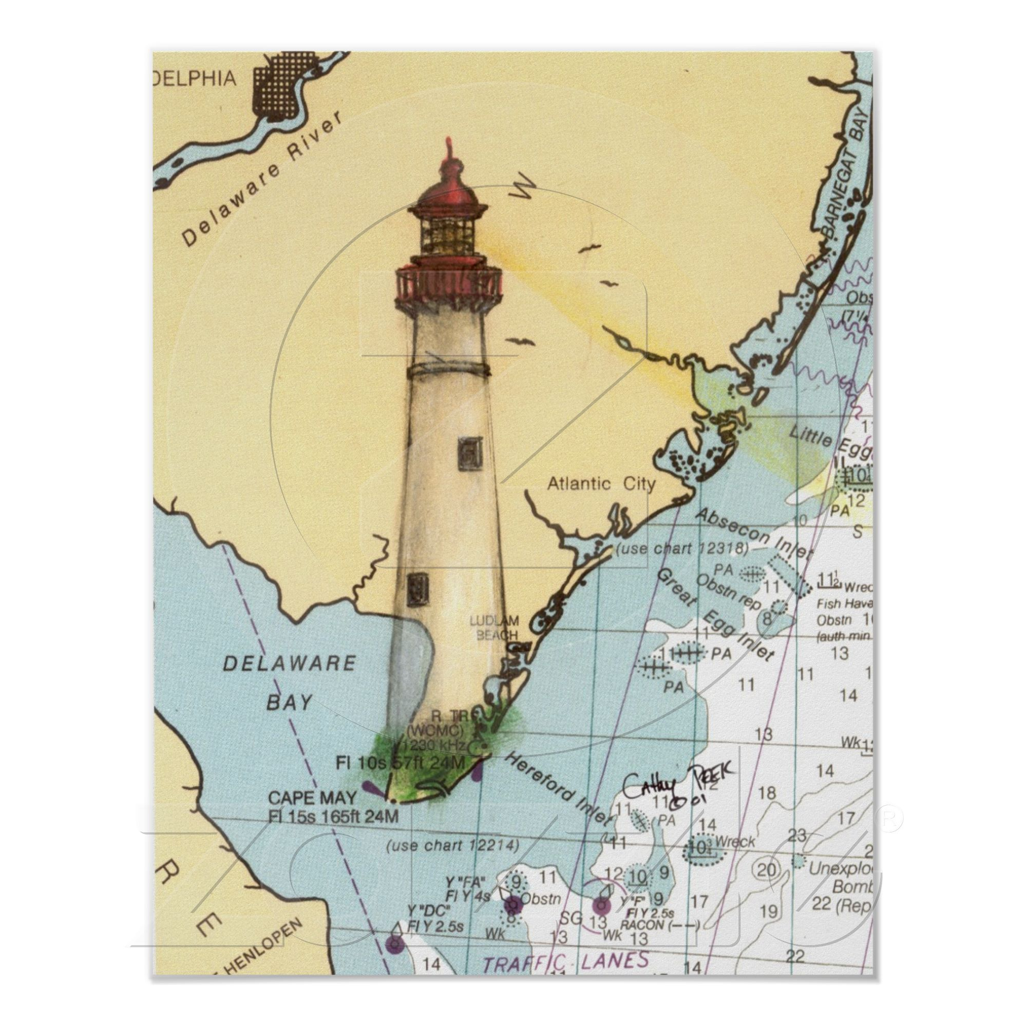 Cape May Lighthouse | Art Gallery | Pinterest | Lighthouse, Cape and ...