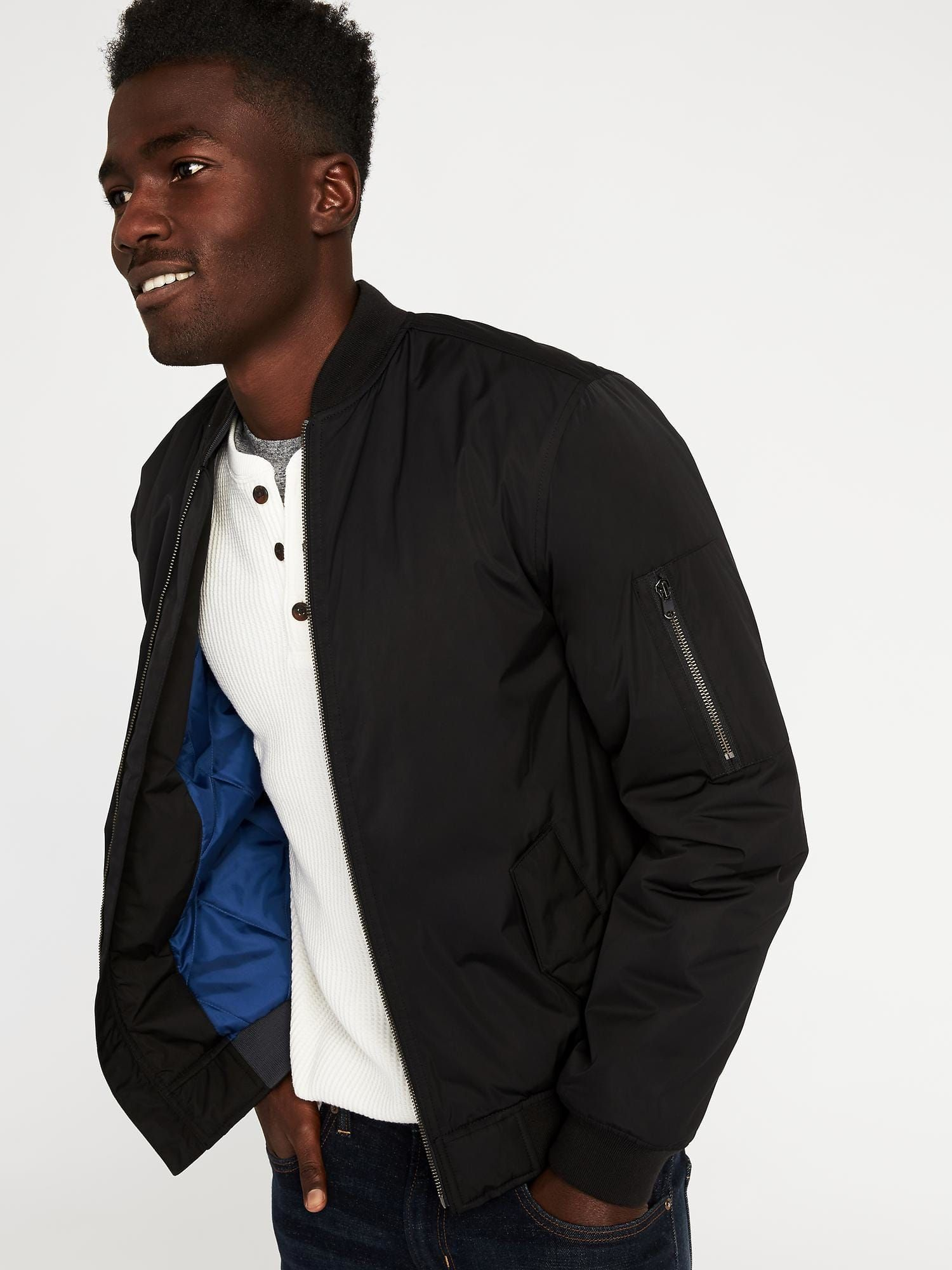 2f479c84fc4c Old Navy Bomber Jacket for Men (Black) | Owned | Navy bomber jacket ...