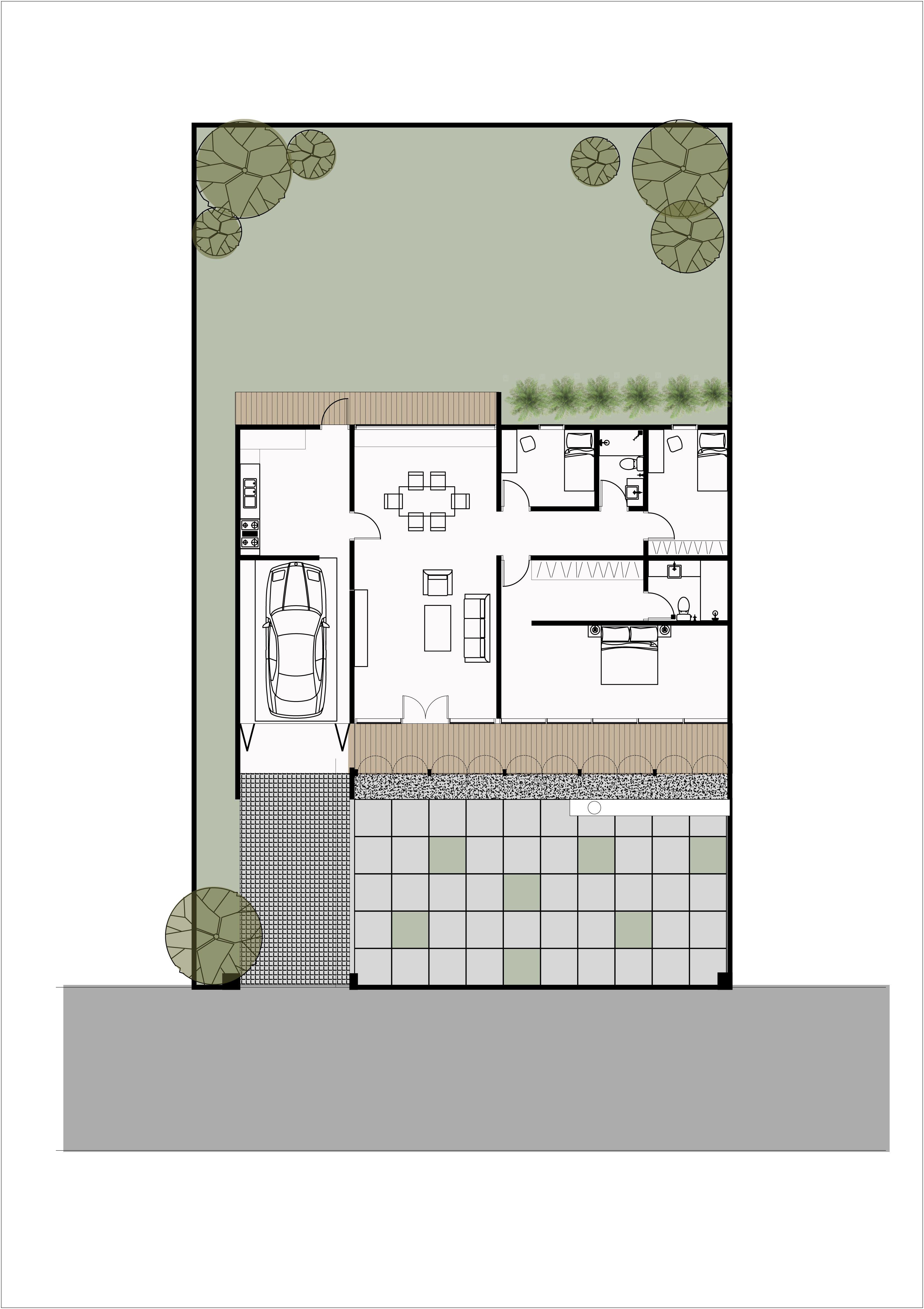 Aw House Klaten House Floor Plans Klaten