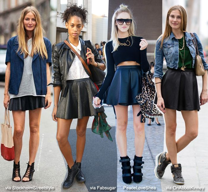 Casual Skater Skirt Outfits Black Skater Skirt Outfit
