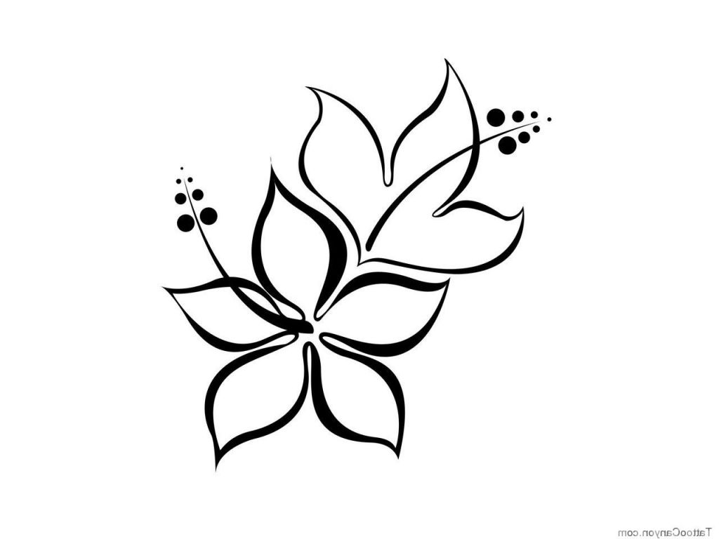 Perfect Easy Draw Hawaiian Flowers And View Simple Flower Drawing Easy Flower Drawings Hawaiian Flower Drawing