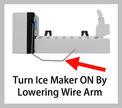 Ice Maker Not Working Is Ice Maker On Lower Wire Arm To Turn Ice Maker On Ice Maker Refrigerator Brands Appliance Repair