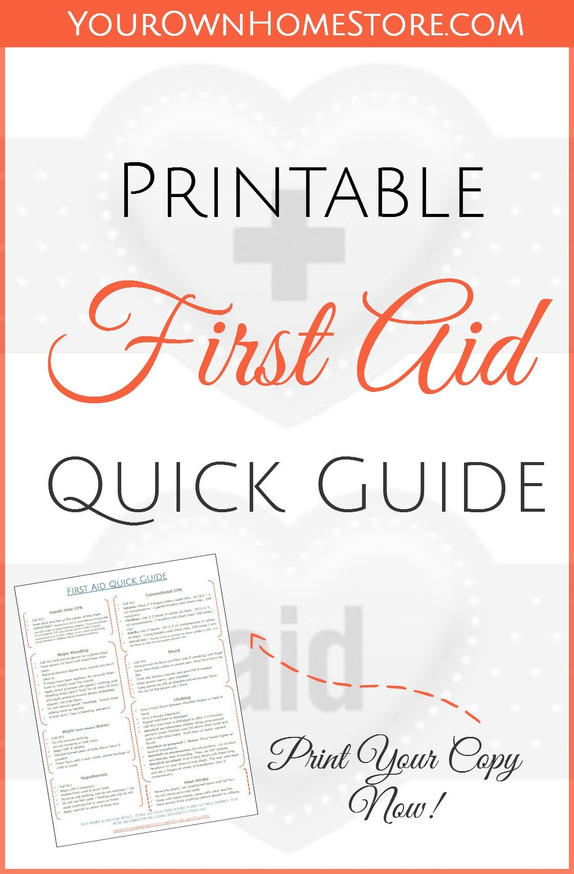 A Free Printable First Aid Guide #firstaid