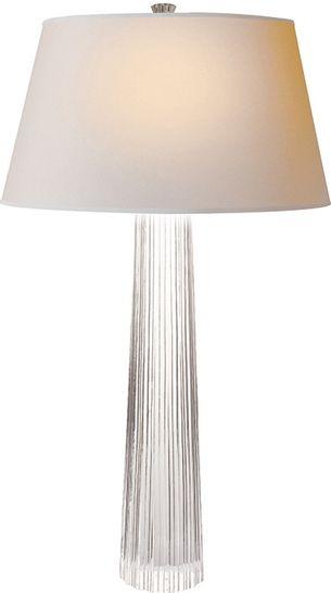 Table Lamps Designer Fluted Crystal Table Lamp So Elegant
