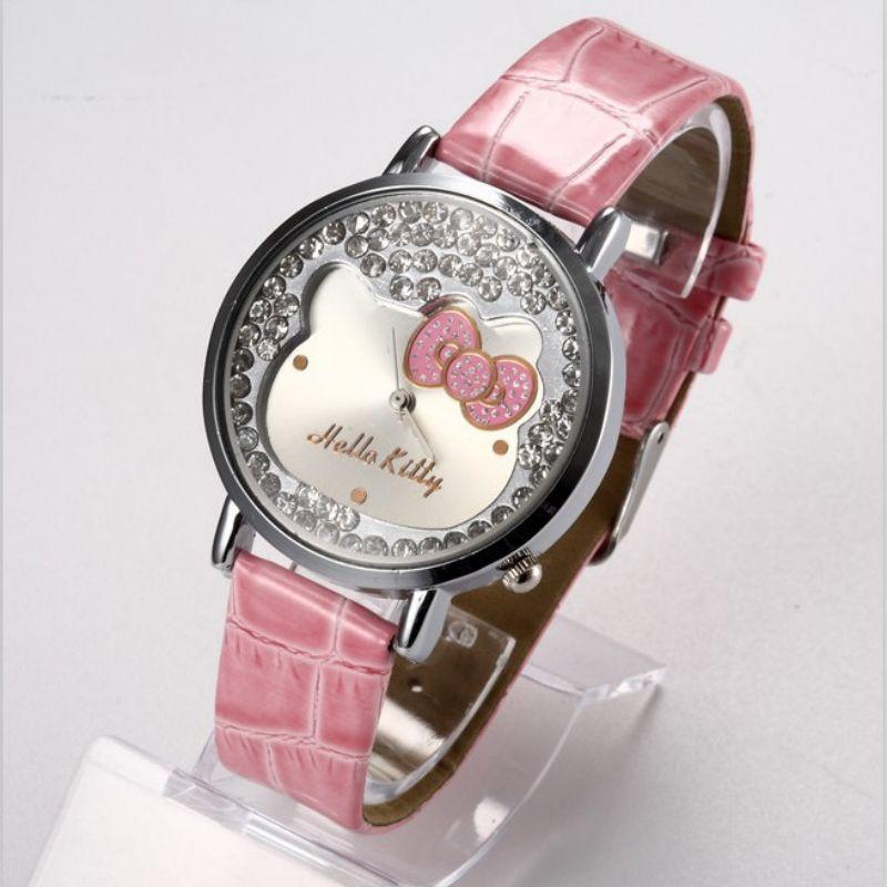 cc9f459a061 Fashion Hello Kitty Cartoon Watch Luxury Rhinestone Quartz Watch Women  Watches Girl Watch Hour Gift relogio feminino reloj mujer