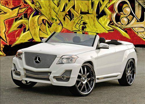 Custom made Mercedes-Benz. Like a cartoon.