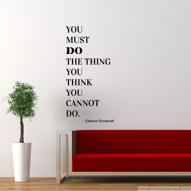stickers muraux citations sticker do the thing you think. Black Bedroom Furniture Sets. Home Design Ideas