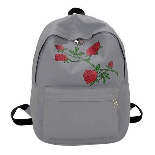 9e82706b7f96 Men Canvas Heart Backpack Cute Women Rose Embroidery Backpacks for Teenagers  Women s School Bags Mochilas Rucksack
