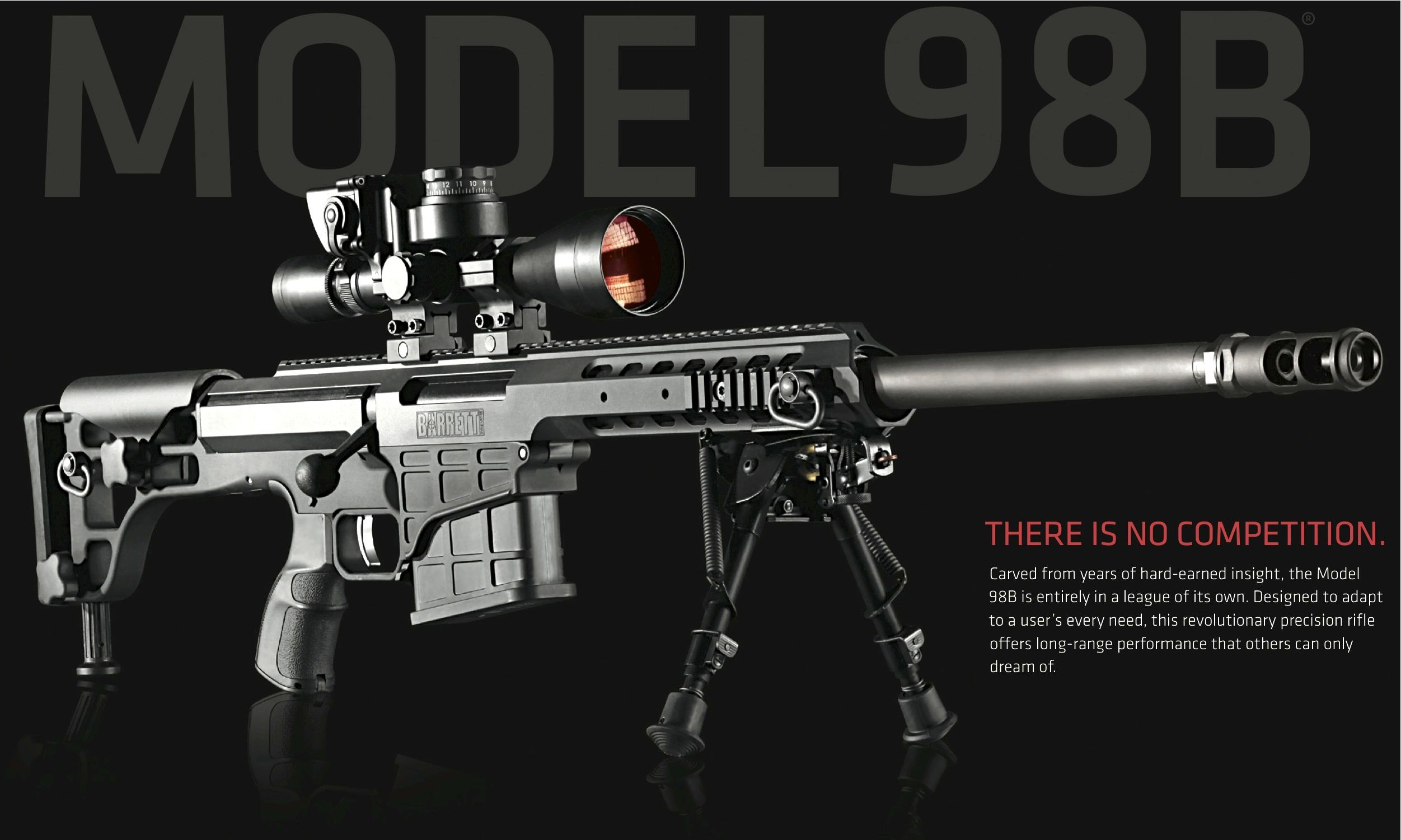 Barrett M98b 338 Lapua Magnum Sniper Rifle Guns