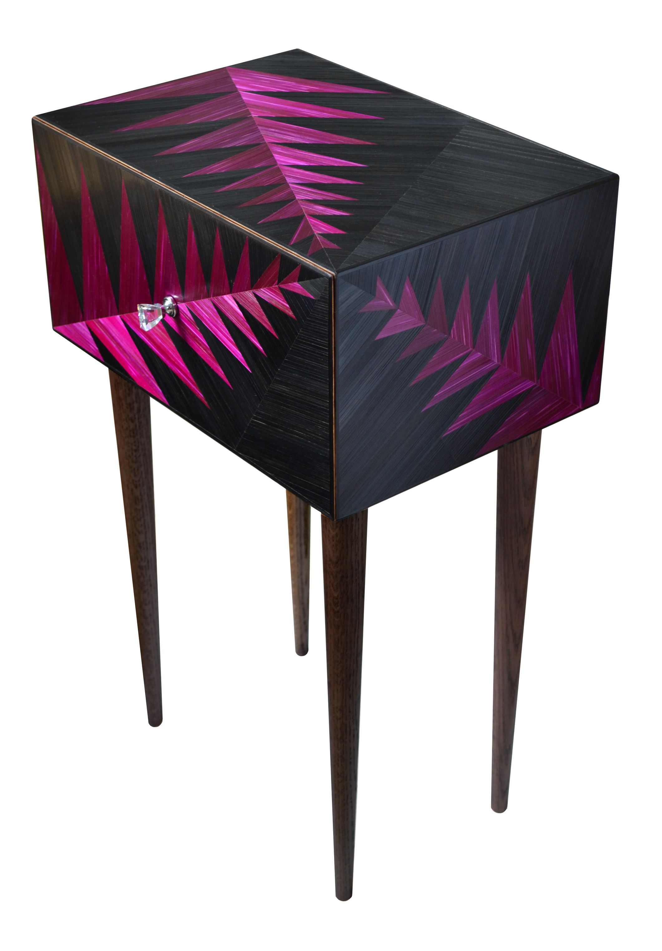Bedside cabinet straw marquetry by www.violetagalan.co.uk | Muebles ...