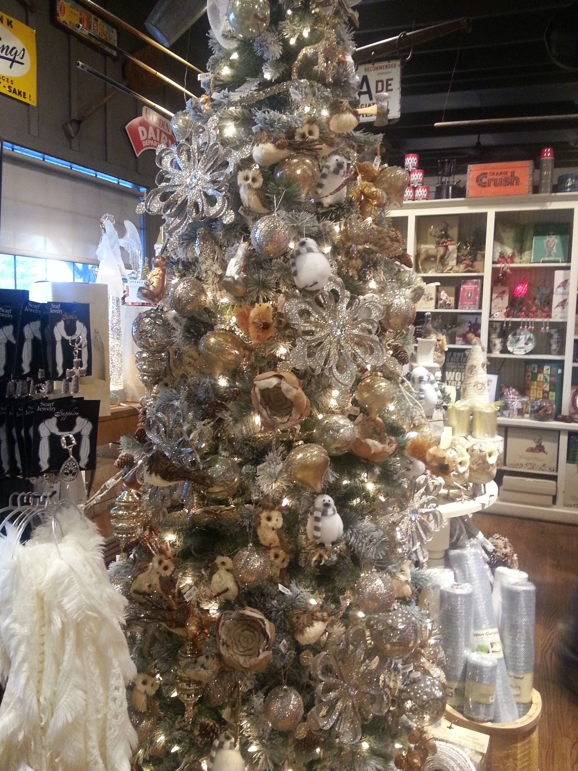 woodland animal christmas tree in cracker barrel
