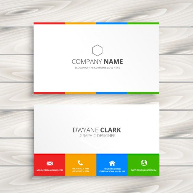 Clean white business card free vector mycard pinterest clean white business card free vector reheart Image collections