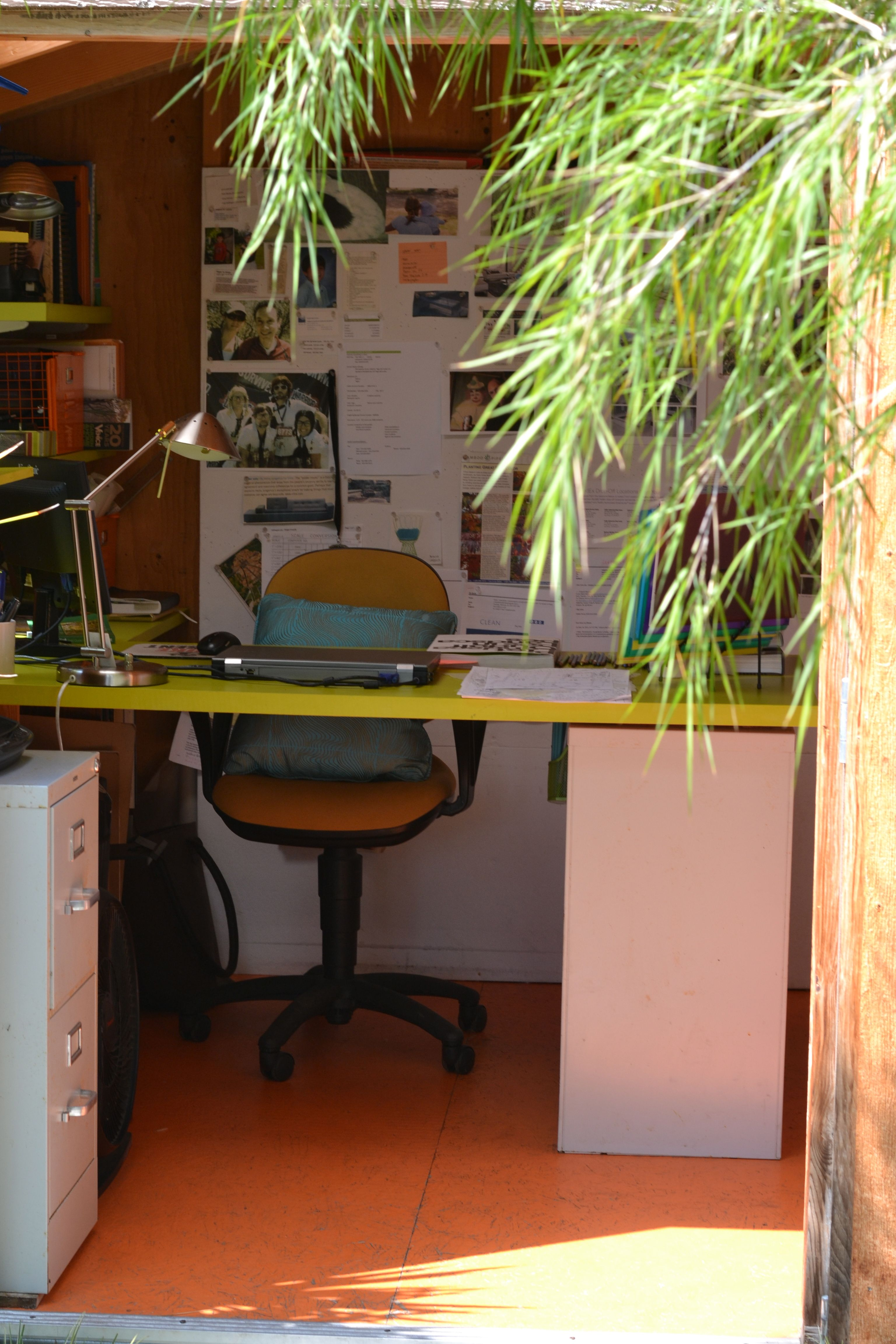 Home office out of a shed from home depot venice home and