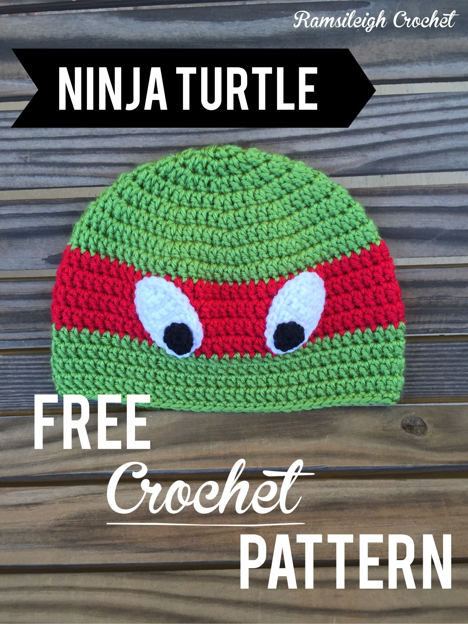 Ninja Turtle Hat Free Pattern Crochet Hat Pattern Crochet
