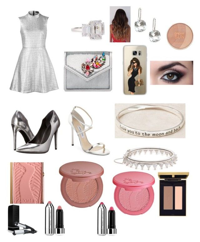 """Dinner Date"" by mikahelaine on Polyvore featuring Markus Lupfer, Kendall + Kylie, Jimmy Choo, Shourouk, Casetify, Fantasia by DeSerio, tarte, Maybelline, Yves Saint Laurent and Marc Jacobs"