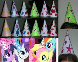My Little Pony Party Hats by RedCrosseKnight on deviantART