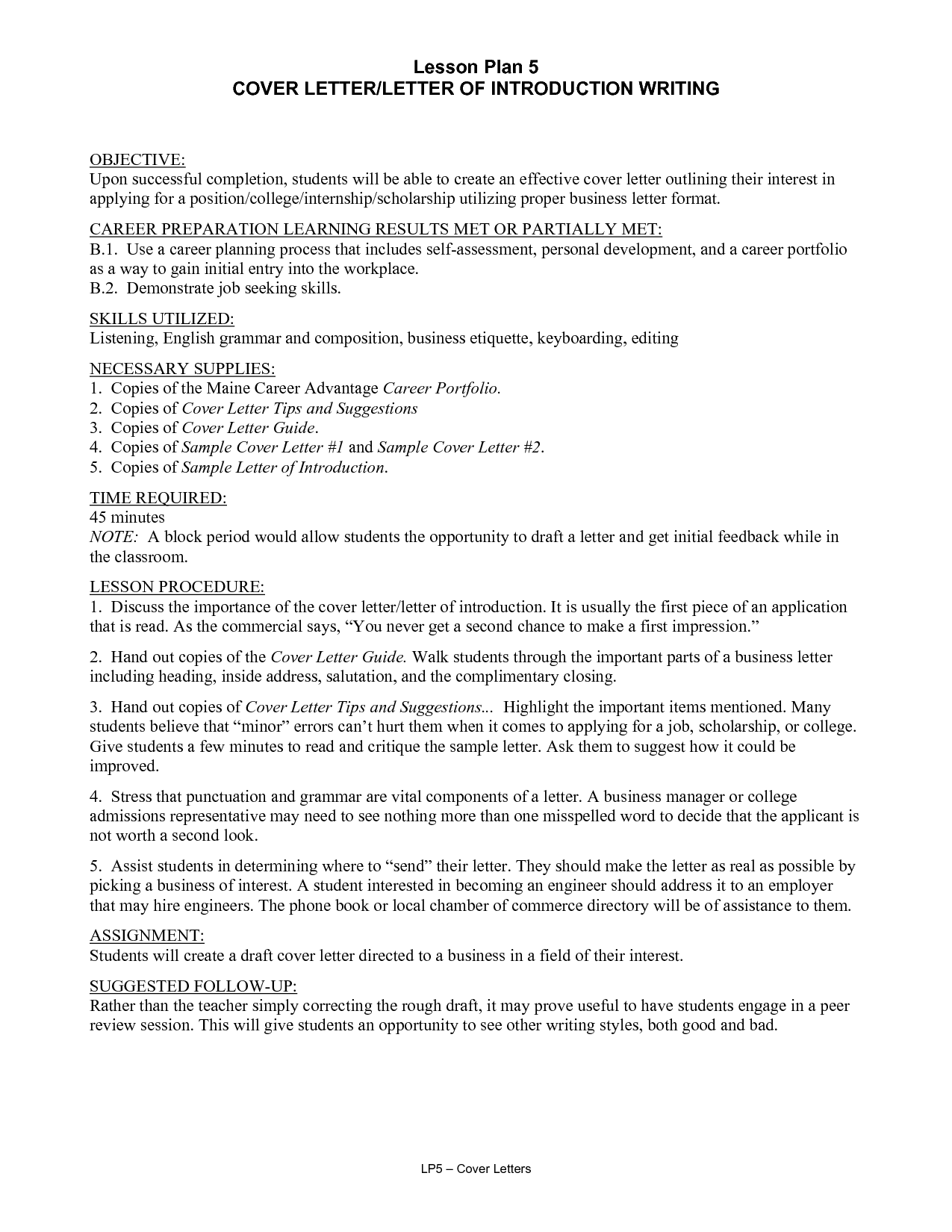 Teaching Writing Business Letter Students Lawteched Sample Resume