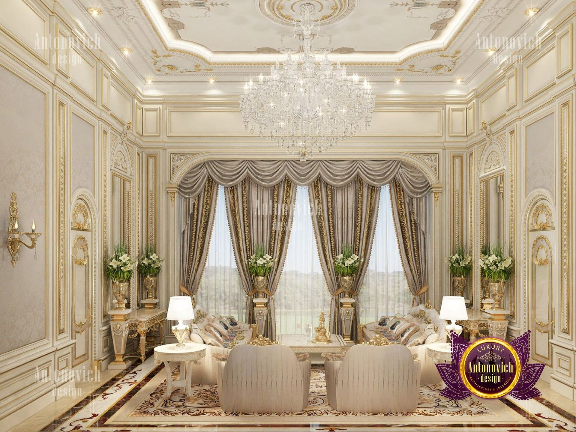 Golden Palace B Living Room Designs Luxury Living Room Design House Design