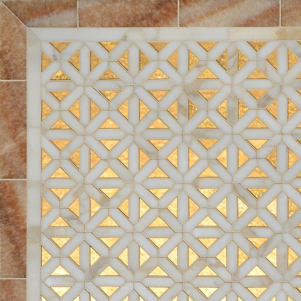 New Ravenna Mosaic Tile Co Joie Gold Leaf Glass Mosaic