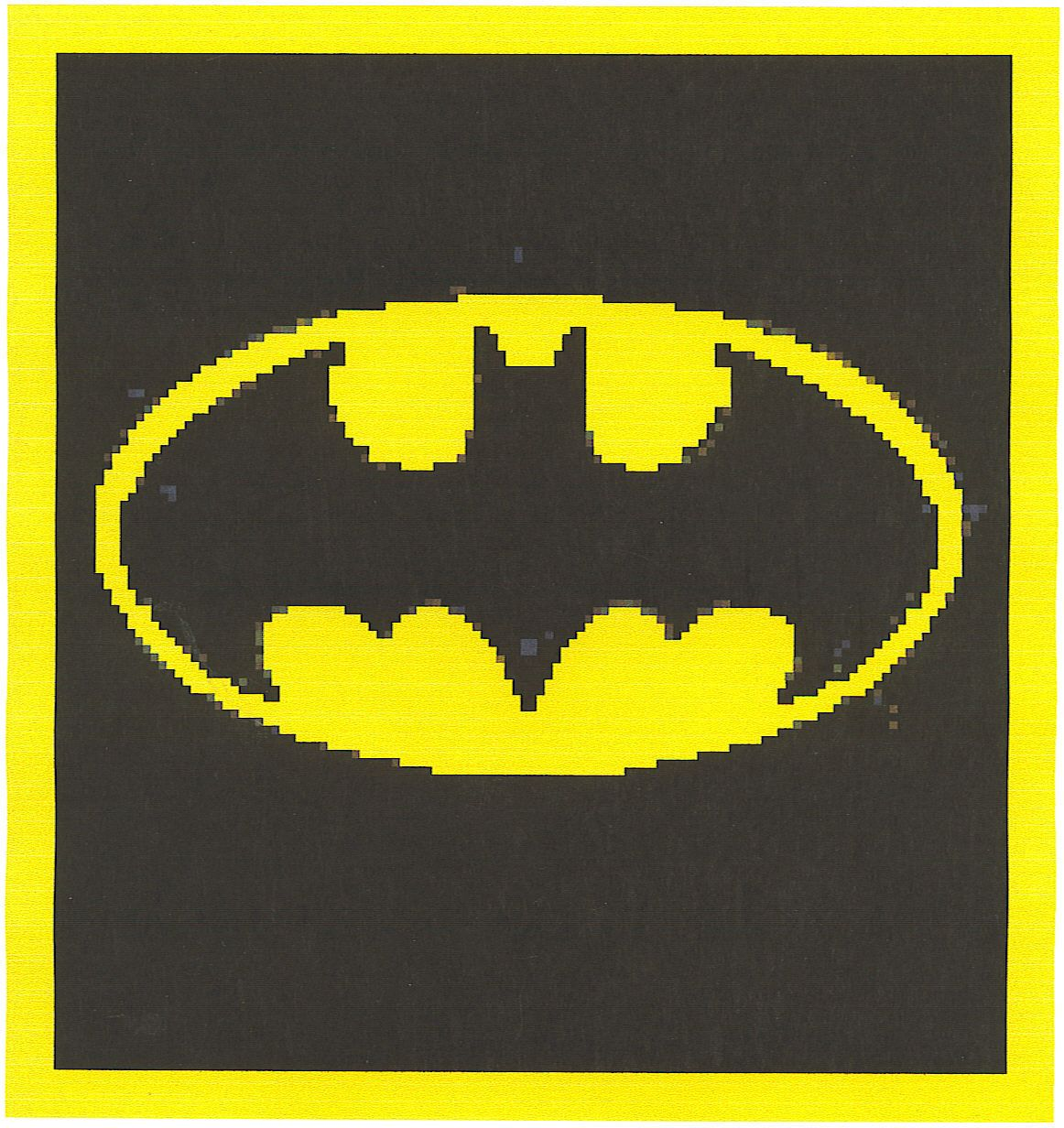Batman Crochet Graph Afghan Pattern | Crochet Baby Afghan Patterns ...